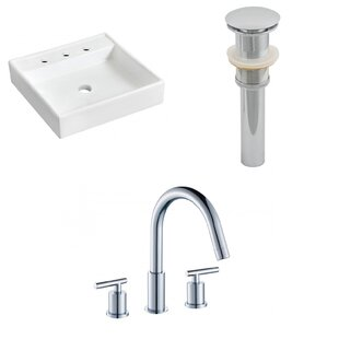 Compare Ceramic 17.5 Wall Mount Bathroom Sink with Faucet ByRoyal Purple Bath Kitchen