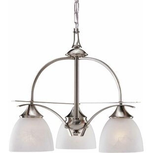 Durango 3-Light Shaded Chandelier by Volume Lighting