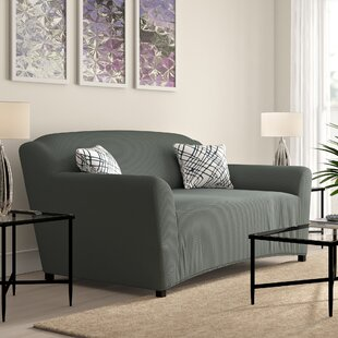 Compare prices T-cushion Sofa Slipcover by Ebern Designs Reviews (2019) & Buyer's Guide