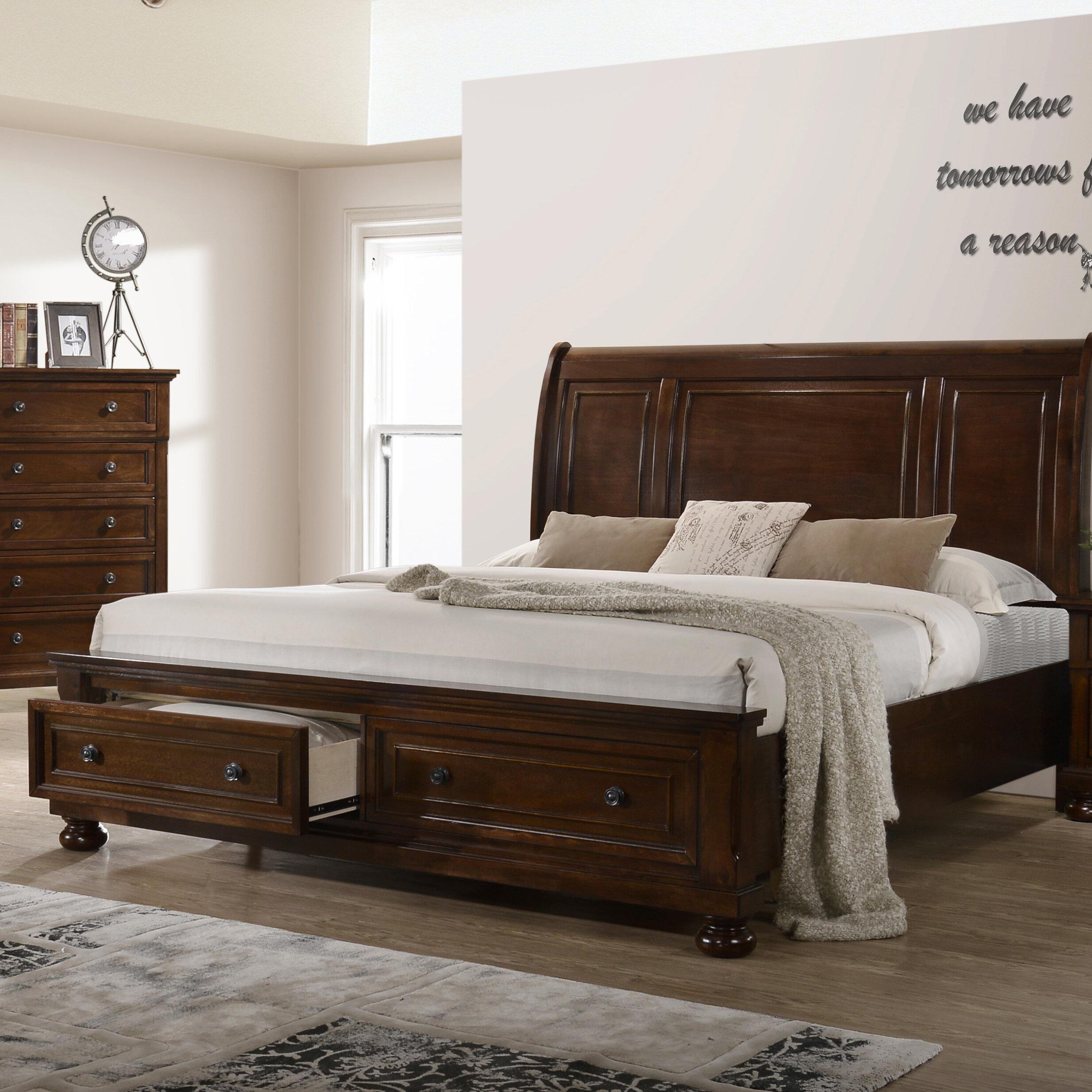 - Charlton Home Charron Storage Sleigh Bed Wayfair