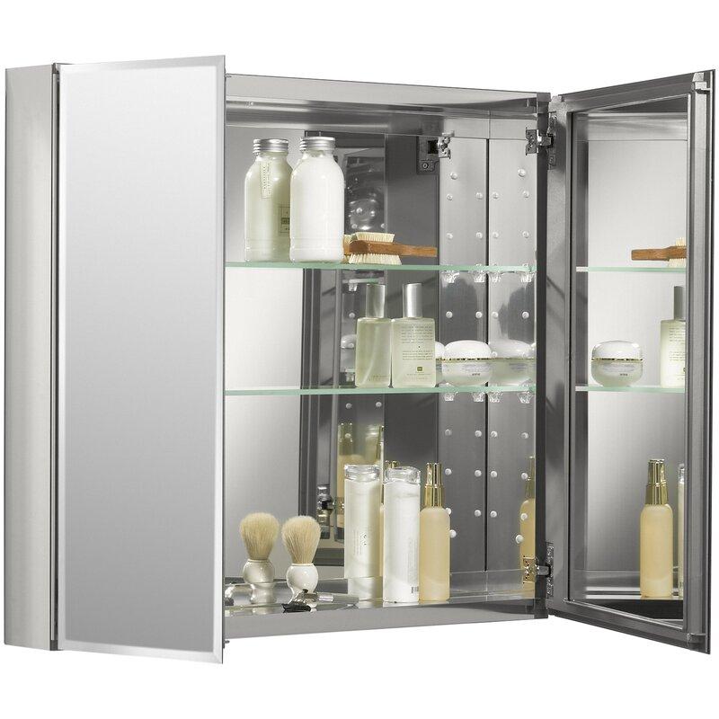 K Cb Clc3026fs Kohler 30 X 26 Aluminum Two Door Medicine Cabinet