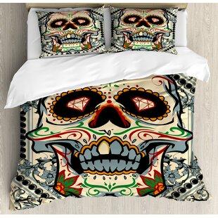 9b62fffc3c797 Sugar Skull Sugar Killer Calaveras Framework Day of the Dead Vintage Gothic  Design Duvet Cover Set