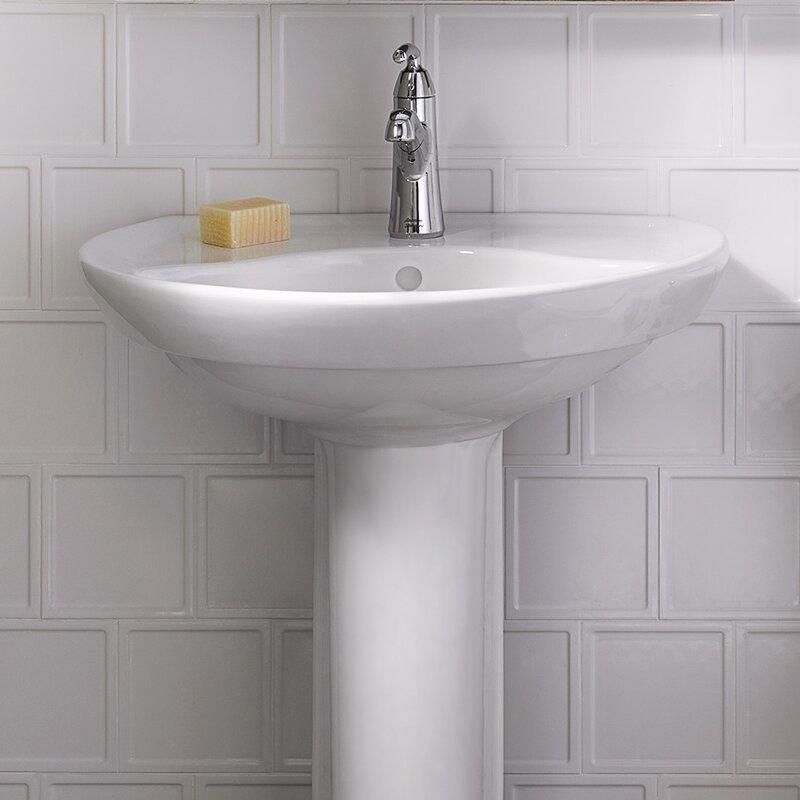 American Standard Ravenna 23 Tall Vitreous China U Shaped Pedestal Bathroom Sink Reviews Wayfair