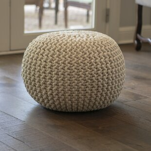 Dawel Round Lurex Pouf by Breakwater Bay