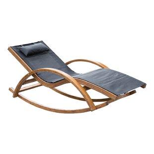 Hunsaker Reclining Teak Chaise Lounge by Ebern Designs