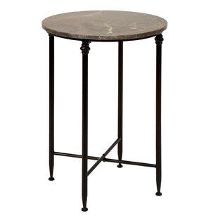 Dark Marble Top End Table