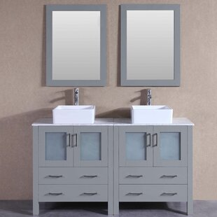 Amie 59 Double Bathroom Vanity Set with Mirror by Bosconi