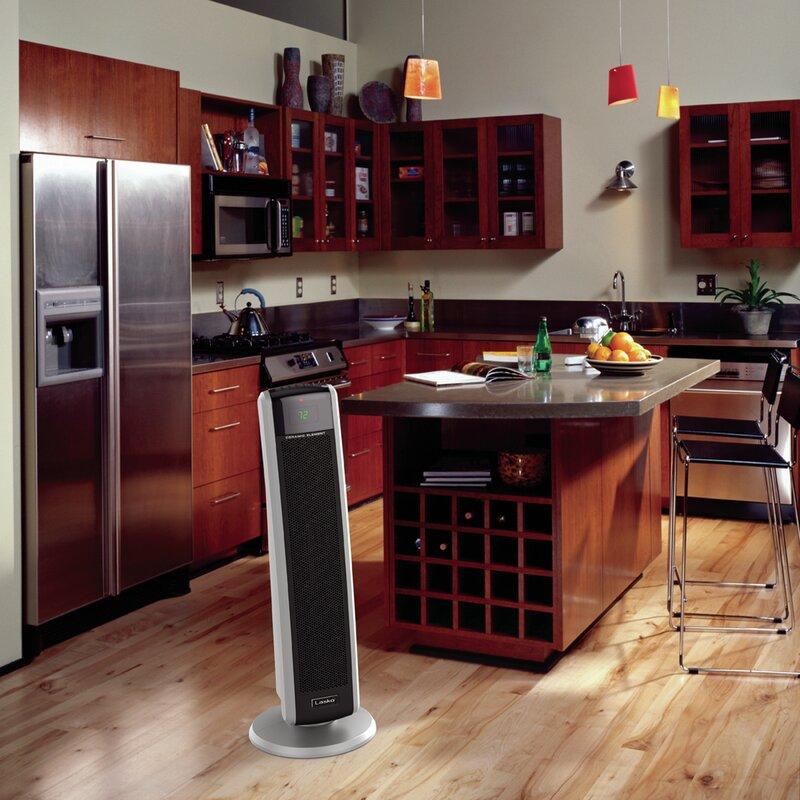Lasko 1 500 Watt Portable Electric Fan Tower Heater With Logic