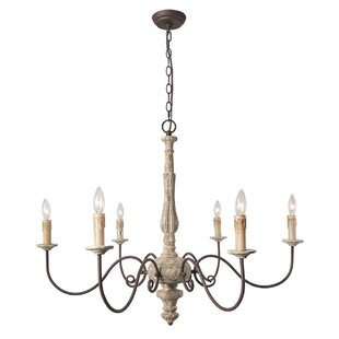 French country chandeliers youll love wayfair leib elegance french country 6 light chandelier aloadofball Choice Image