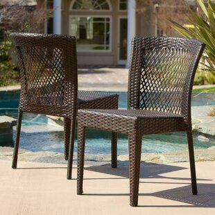 Caraquet Stacking Patio Dining Chair (Set of 2)