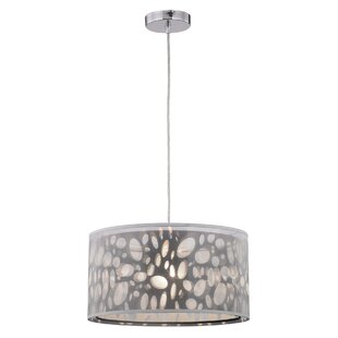 Ebern Designs Lathrop 1-Light Drum Pendant