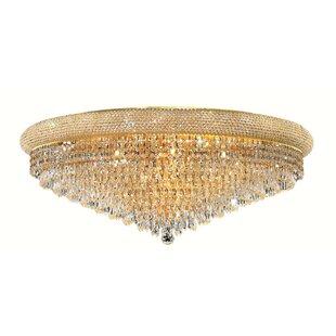 Willa Arlo Interiors Jessenia Contemporary 20-Light Crystal Shade Flush Mount