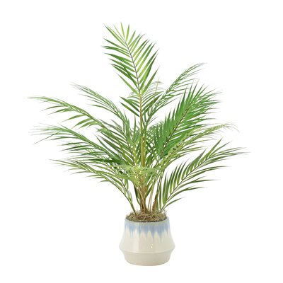 entracing palm tree type house plant. Floor Palm Plant in Pot Nearly Natural Silk Areca with  Reviews Wayfair