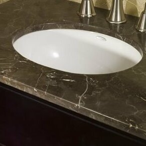 Ovalyn Vitreous China Oval Undermount Bathroom Sink with Overflow ByAmerican Standard