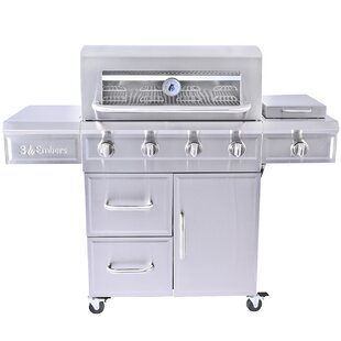 4-Burner Liquid Propane Gas Grill By 3 Embers