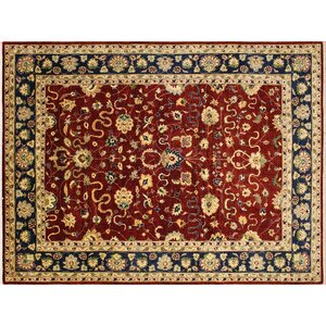 One-of-a-Kind Leann Hand-Knotted Red Indoor Wool Area Rug