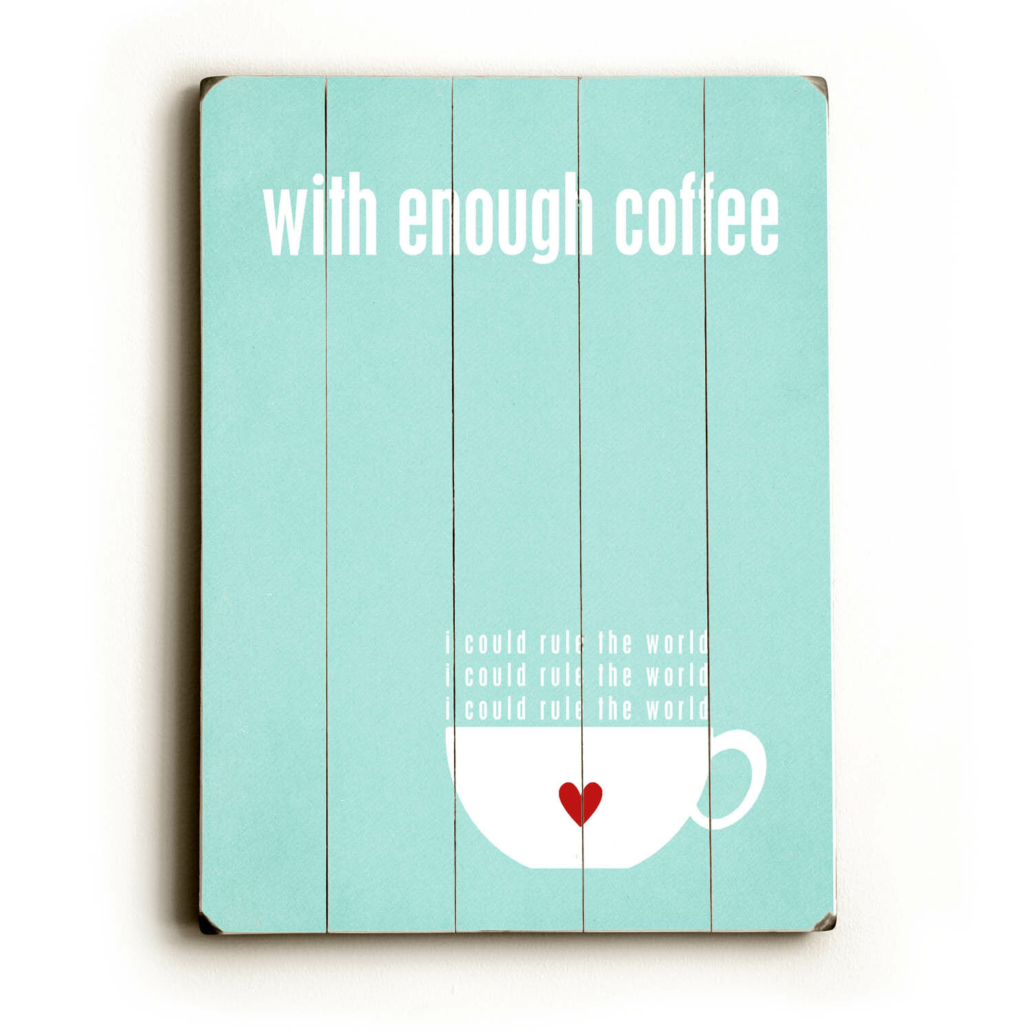 Artehouse Llc With Enough Coffee By Cheryl Overton Textual Art Plaque Wayfair