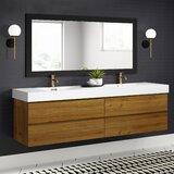 Isabela 79 Wall-Mounted Double Bathroom Vanity Set by AllModern