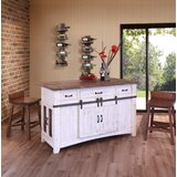 Coralie 3 Drawer Kitchen Island Set by Gracie Oaks