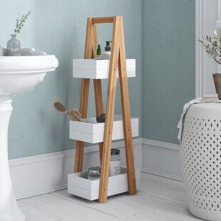 Review Chaput 21cm X 81cm Bathroom Shelf