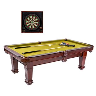 Coupon Hatherley 8.3' Pool Table with Dartboard Cabinet By Barrington Billiards Company