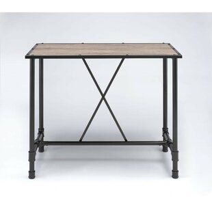 Calton Industrial Rectangular Metal Pub Table by Williston Forge