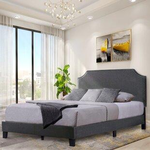 Hallett Upholstered Low Profile Platform Bed by Mercer41