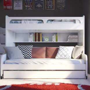 Gautreau Twin over Twin Futon Bunk Bed with Table and Trundle by Brayden Studio