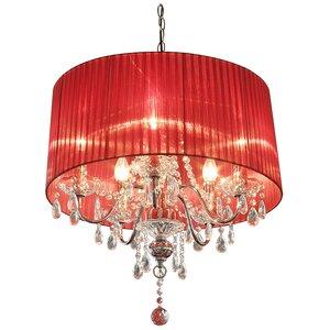 Red chandeliers wayfair warwick 5 light chandelier aloadofball Images