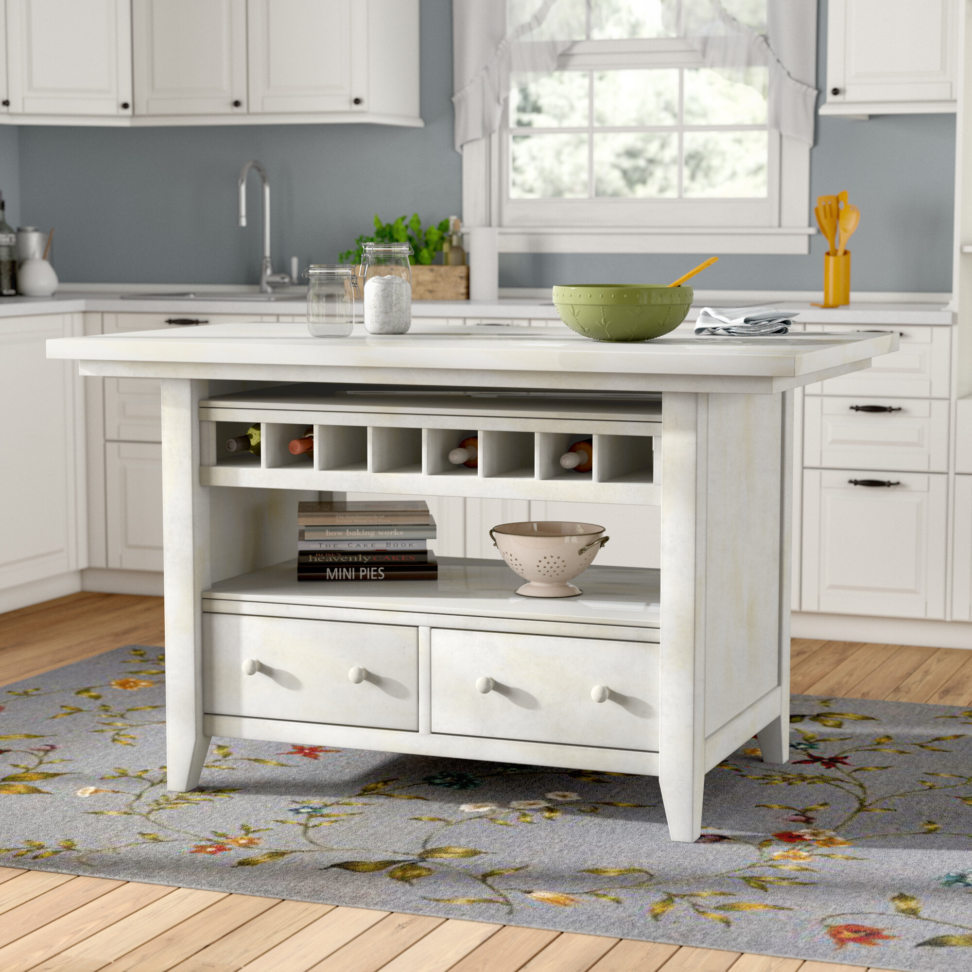 August grove carrolltown kitchen island reviews wayfair