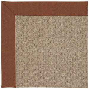 Zoe Grassy Mountain Machine Tufted Dried Chilis/Brown Indoor/Outdoor Area Rug