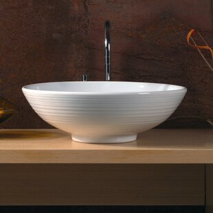 WS Bath Collections Ceramica Ceramic Circular Vessel Bathroom Sink