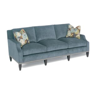 Modern Notch Armed Sofa by Classic Comfort
