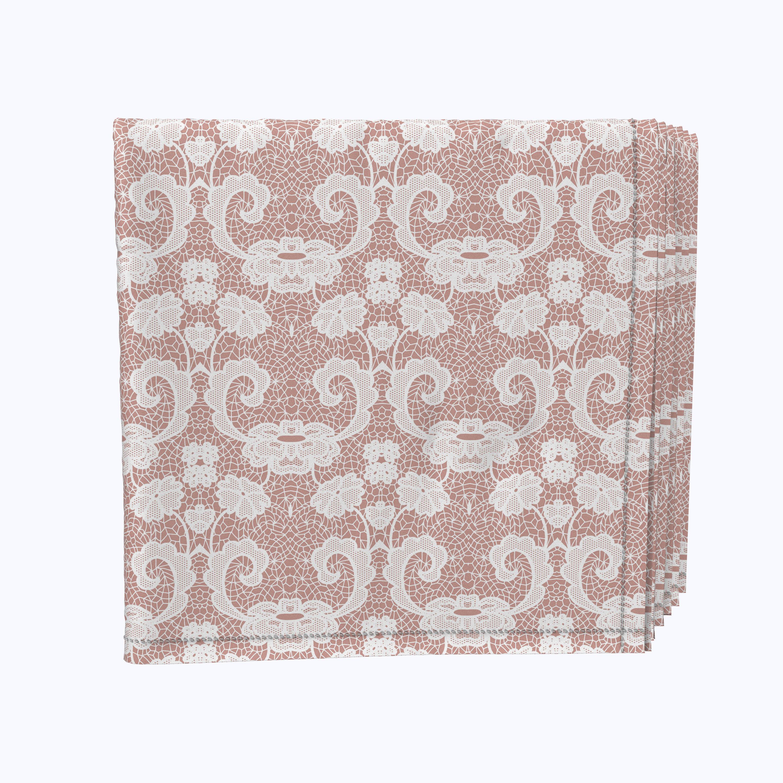 Fabric Textile Products Inc Napkin Set 100 Milliken Polyester Machine Washable Set Of 12 18x18 Decorative Flowers On Lace Wayfair