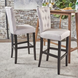 Edna Fabric Bar Stool by House of Hampton