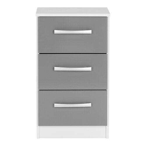 Nachttisch Dugg 17 Stories Farbe: Weiß und Grau | Schlafzimmer > Nachttische | 17 Stories