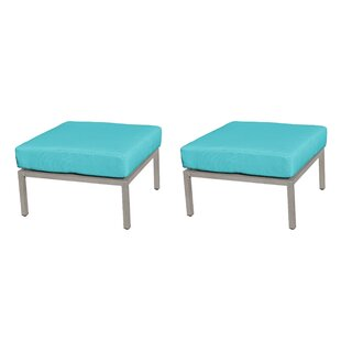 Carlisle Outdoor Ottoman with Cushion (Set of 2) by TK Classics