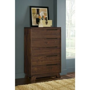 Frieda Wooden 5 Drawer Chest