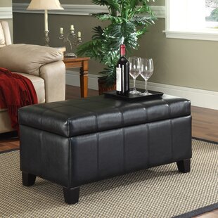 Latitude Run Ogallala Faux Leather Storage Bench