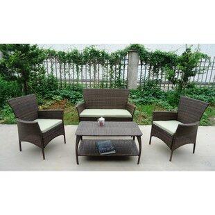 North Hampton 4 Piece Sofa Set With Cushions