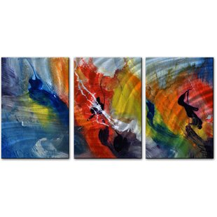 'Beyond' by Skye Taylor 3 Piece Painting Print Plaque Set