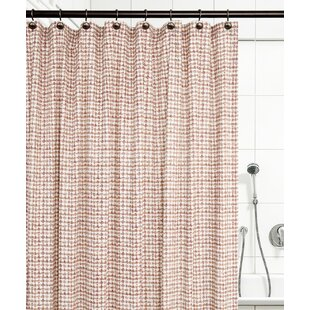 Bargain Brandon Ikat Check 100% Cotton Shower Curtain By Langley Street
