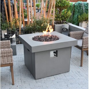 Davion Concrete Propane Fire Pit Table By Sol 72 Outdoor