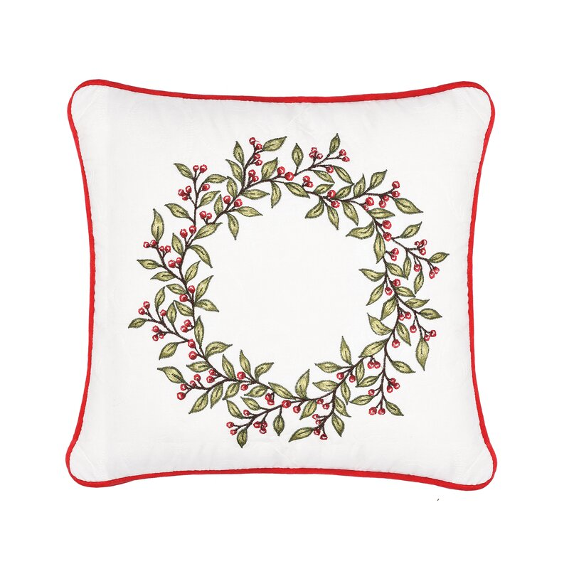 Mauer Berry Garland Cotton Throw Pillow