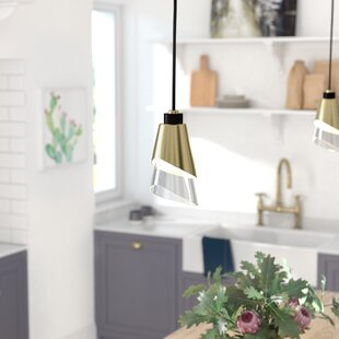 Gavrilin 1-Light Cone Pendant by Brayden Studio