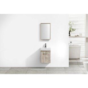 Tenafly 16 Wall Mount Single Bathroom Vanity by Wade Logan