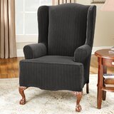 Superb Wing Chair Slipcovers Youll Love In 2019 Wayfair Lamtechconsult Wood Chair Design Ideas Lamtechconsultcom