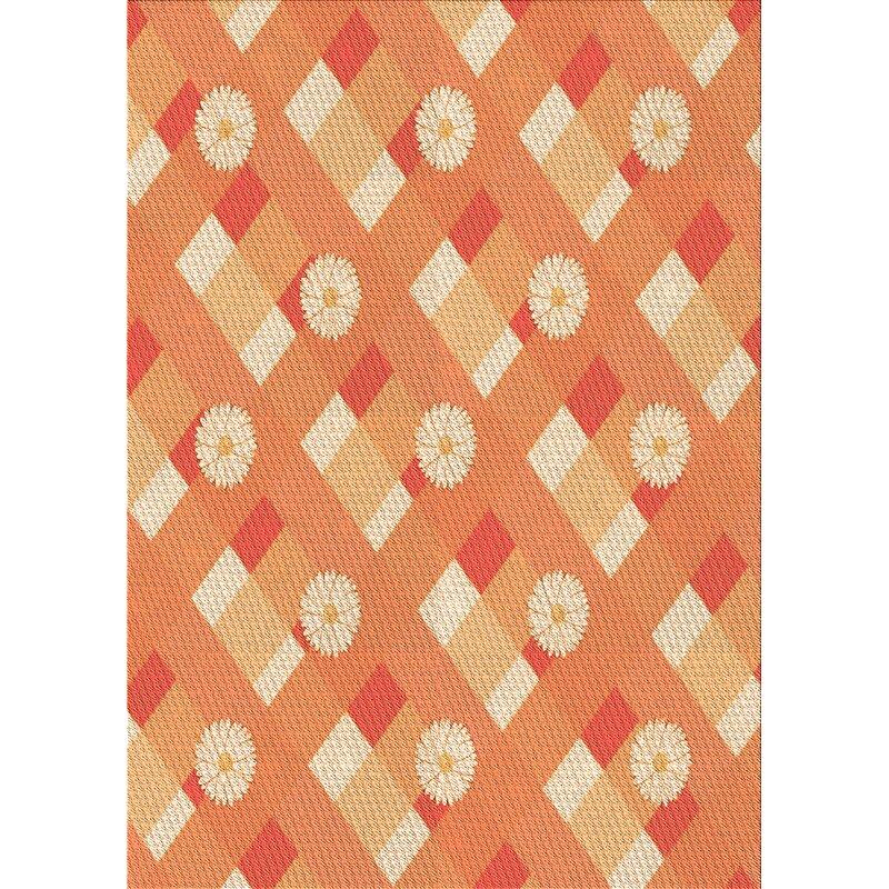 East Urban Home Floral Wool Orange Area Rug Wayfair