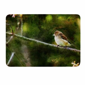 Painted Songbird by Ginkelmier Memory Foam Bath Mat