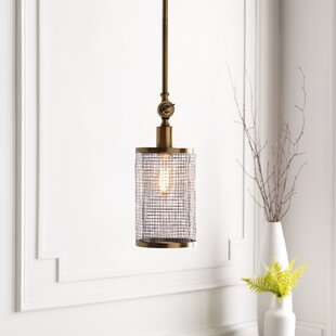 Rouse Modern 1-Light Cylinder Pendant by Everly Quinn